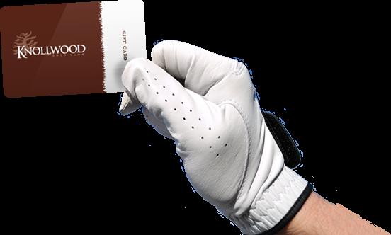glove-holding gift card knollwood golf